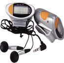 Custom Portable Radio Pedometer With Earphone, 2 9/16