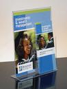 Custom Clear Acrylic Sign Holder W/Brochure Pocket (8 1/2w x 14h)