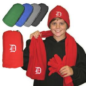 Embroidered Fleece Gift Set, Price/piece