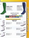 Blank Aawhite Heel & Toe Footie Sock W/ Mesh Upper & Arch Support (Small)
