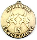 Custom 500 Series Stock Medal (Attitude is Everything) Gold, Silver, Bronze