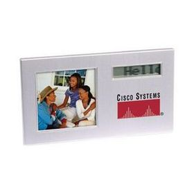 "AdVantage Line AD-1015 Scrolling Message Photo Frame w/Alarm Clock, 5 7/8"" x 3 1/4"" x 1/2"", Price/piece"
