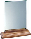 Custom Xlarge Vertical Desk Plaque With Beveled Walnut Base, 11