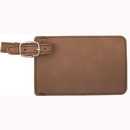 Custom Leatherette Luggage Tag - Dark Brown, 4.25