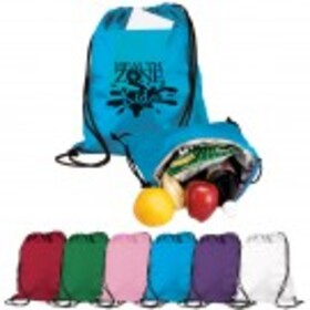 Cinch-Up Backpack Cooler - Closeout Colors, Price/piece