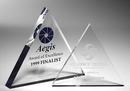 Custom Tripod Clear Triangle Paperweight - Acrylic (4