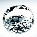 Custom Gem Cut Crystal Paperweight - Clear, 3