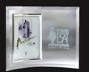 Custom Jade Glass Vertical Beveled Edge Picture Frame- 5