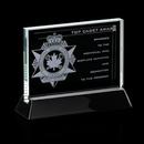 Custom Starfire Walkerton Award w/ Rosewood or Black Wood Base (6