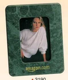 "7""x5-1/2"" Green Marble Photo Frame (3-1/2""x5"") (Screened), Price/piece"