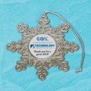 Custom Stock Snowflake Ornament with printed center - USA MADE, 2 1/2