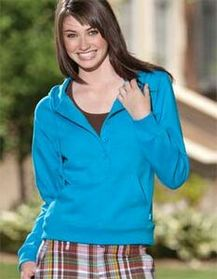 Enza Ladies 5 Button Fleece Hoodie (XS-4X), Price/piece