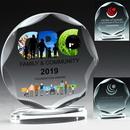 Custom Round Scalloped Award - Screen imprint
