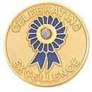 Blank Epoxy Enameled Scholastic Award Pin (Celebrating Excellence), 7/8