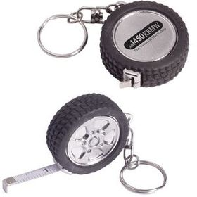 "AdVantage Line 3 Ft. Tire Tape Measure Key Ring, 1 5/8"" W X 5/8"" H, Price/piece"