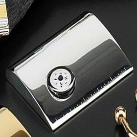 Silver Plated Metal Card Case W/ Clock, Price/piece