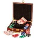 Custom Rosewood Piano Finished Poker Set (Screen printed)
