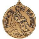 Custom Peace On Earth Ornament/ Medallion (Angel W/ Cello) Brass or Nickel Silver