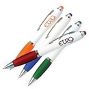 Custom White Pda Stylus Pen W/Matching Colored Grips & Nibs