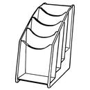 HLX Countertop Brochure Holders-4 Row X 1 Pockets (4 1/4