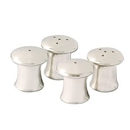 4 Piece Silver Plated Mushroom Salt and Pepper Set