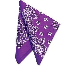 "Purple 22"" Bandannas (12 Pack), Price/12pcs"