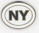 Custom New York State Abbreviation Stock Cast Pin