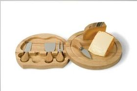 Large Swivel Cheese Board 5 Piece Set, Price/piece