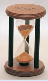 "3 Minute Wooden Sand Timer (Screened) (3""x4 3/4""), Price/piece"