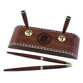 "Pinnacle 7-7/8""X2-3/4""X1"" Double Pen Wooden Stand, Price/piece"