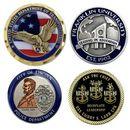 Custom Die Struck Brass Challenge Coin (1-1/2