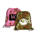 AAKRON Non Woven Camo Drawstring Backpack, 15