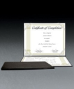 Custom Black Faux Leather Certificate Holder, 11 1/2