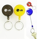 Round Retractable Key Holder with Metal Clip