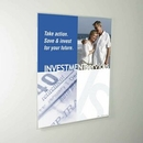 Custom Non-glare Acrylic Wall Poster Holder with Mounting Bracket (22w x 28h)