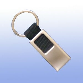 MDS 2 Tone Metal Key Tag With Black Canvas Strap, Price/piece