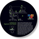Custom Slimline Mouse Mat Stock Circle Shape (7.63