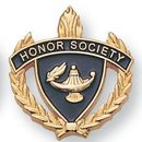 Blank Fully Modeled Epoxy Enameled Scholastic Award Pins (Honor Society), 7/8