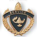 Blank Fully Modeled Epoxy Enameled Scholastic Award Pins (Service), 7/8