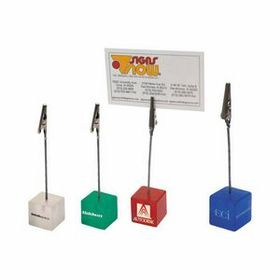 "AdVantage Line Plastic Resin Memo Clip, Pad Printed, 1"" W x 4 1/2"" H x 1"" D, Price/piece"