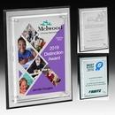 Custom Tall Brushed Aluminum Plaque - Screen Print