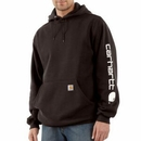 Custom Midweight Hooded Logo Sleeve Sweatshirt