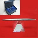 Custom Pyramid Crystal Spinning Pen Set (Clear Base) - SCREENED