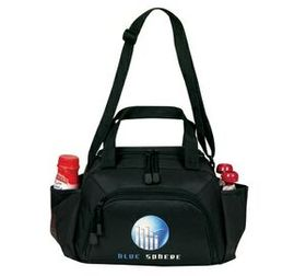 "Banaka Duffle Insulated 8 Pack Cooler, 600 D And 300 D Ripstop Polyester With Pvc Backing, 11"" W X 7"" H X 6 1/2"" D, Price/piece"