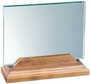 Custom Large Horizontal Desk Plaque With Beveled Walnut Base, 7