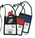 Custom Nylon Neck Wallet W/ Pocket & Big Front Imprint Area