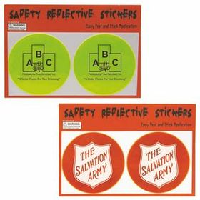 Illini Round Reflective Safety Stickers, Pad Printed, Price/piece