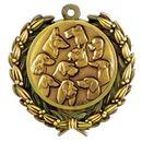 Custom Stock Dogs Medal w/ Wreath Edge (1 1/2