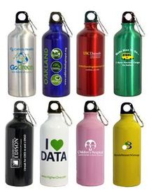 20 oz., Aluminum water bottle, carabineer, bpa free, gift boxed, Price/piece