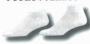 Custom Half Cushioned Sole Heel & Toe Footie Socks w/ Mesh Upper (7-11 Medium)